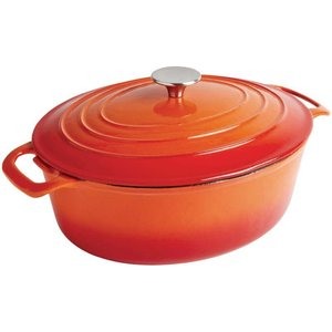 XXLselect Orange oval casserole - 30x23x (h) 18cm