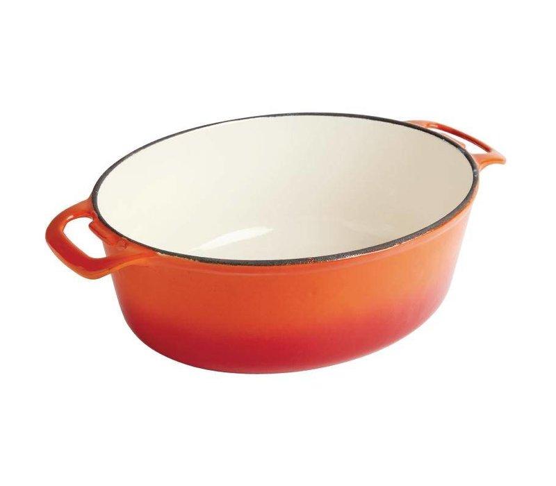 XXLselect Orange oval Auflauf - 30x23x (h) 18 cm