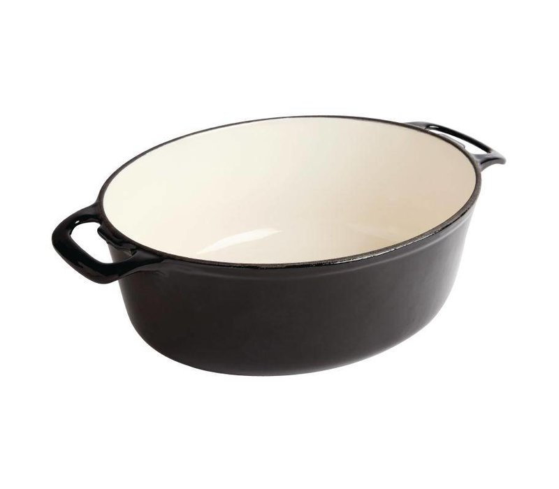 XXLselect Oval casserole Black - 30x23x (h) 18cm