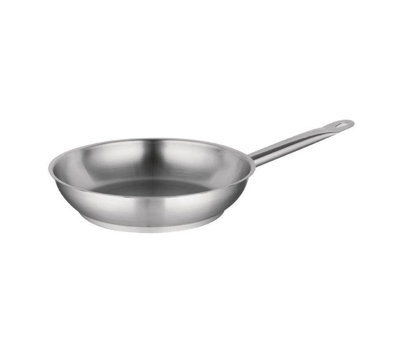 XXLselect Stainless steel frying pan - 20cm diameter - CHOICE OF 3 SIZES