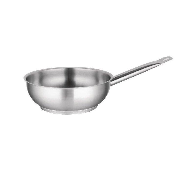 XXLselect Conical stainless steel sauté pan Model - 20cm diameter