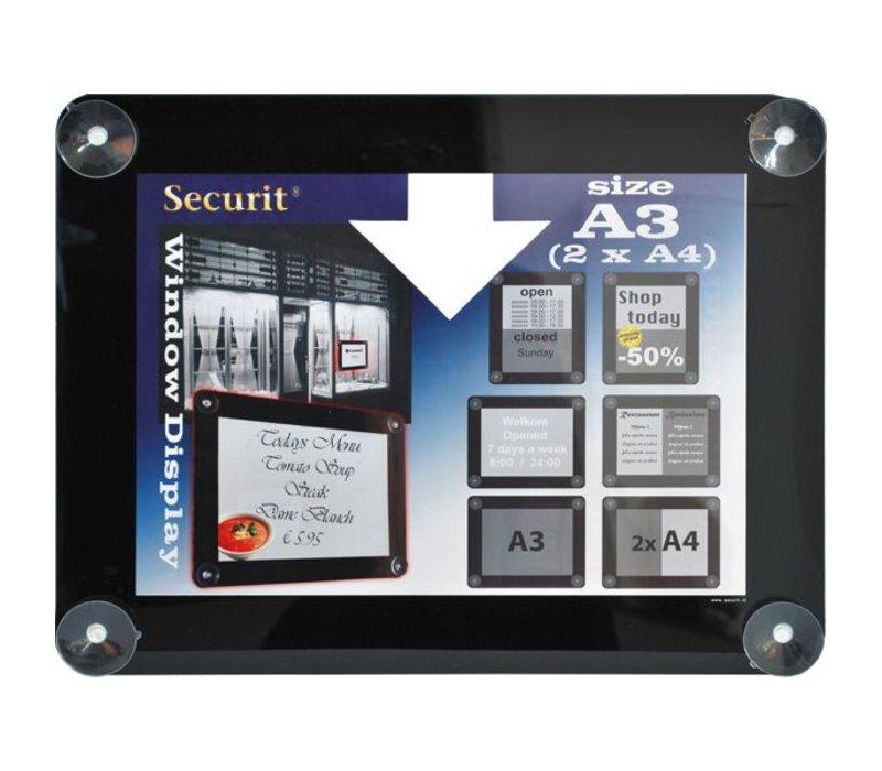 Securit Raam poster display Zwart A3