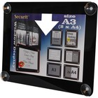 Securit Window poster display Black A3