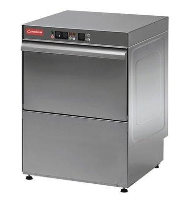 Modular Glazenspoelmachine RVS | Modular | Automatisch Wascyclus | Naglansdoseerder | 230V