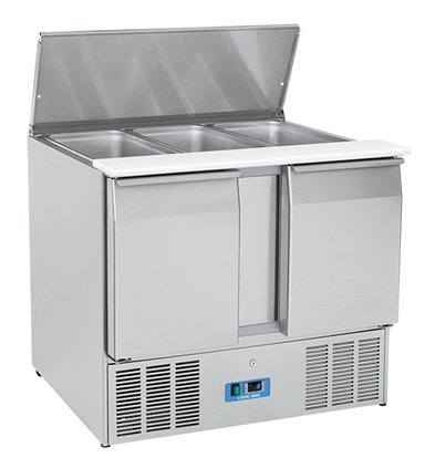 CaterCool Saladette CaterCool SS 2 Türen | 1050x700x (H) 850mm | 3x 1/1 GN