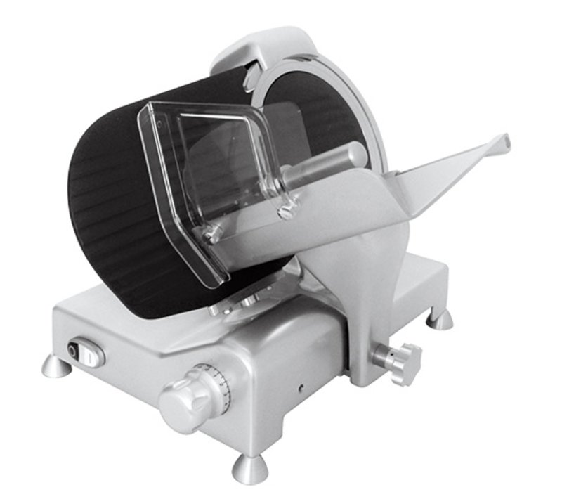 XXLselect Meat Slicer Teflon Coating | Pitched Model | 300Watt | 540x460x (H) 360mm