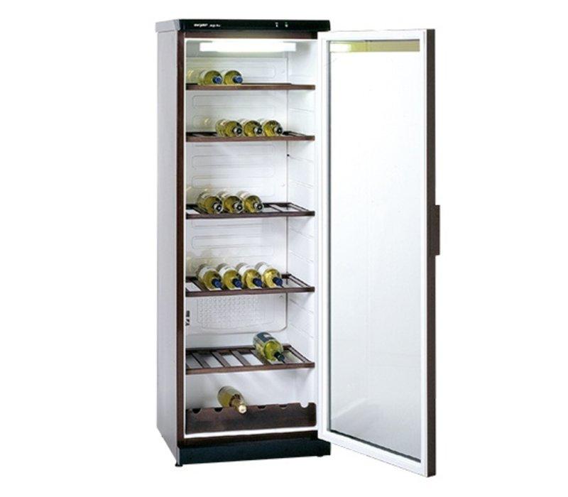 XXLselect Wine Climate Cabinet Brown Rustic | 6 Adjustable Bottle Carriers | 600x600x (H) 1730mm | 36Flessen