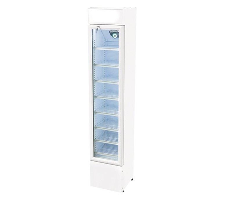 XXLselect Refrigerator White | 8 Adjustable Schedules | Self-closing Double Glass Door | 110 liter
