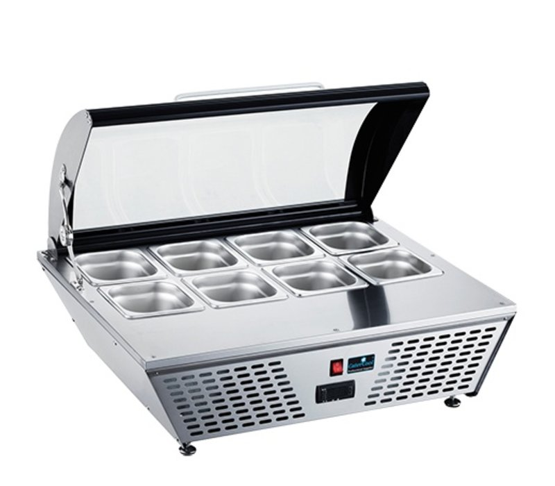 CaterCool Kühlvitrine Design CaterCool Weiß | LED-Innenbeleuchtung | 0 / + 12 ° C | 58 Liter
