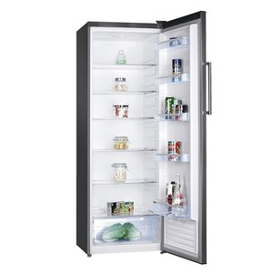 XXLselect Hohe Stahl Kühlschrank   Led-Anzeige   600x600x (H) 1700 mm   335 Liter