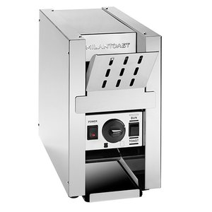 XXLselect Conveyor Toaster RVS | met Warmhoudplateau | 800Watt | 220x510x(H)370mm