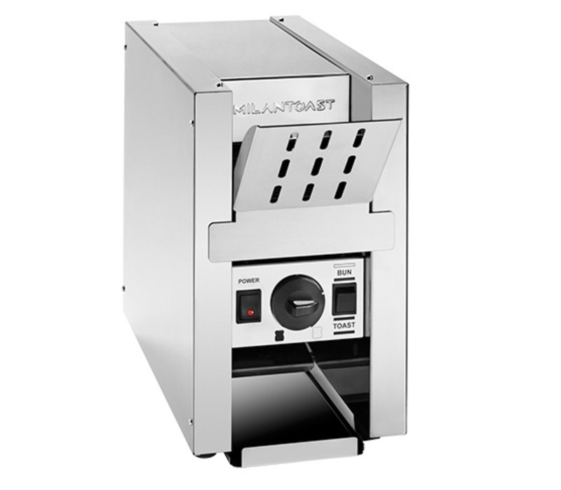 XXLselect Conveyor Toaster Stainless Steel | with Hot Plateau | 800W | 220x510x (H) 370mm