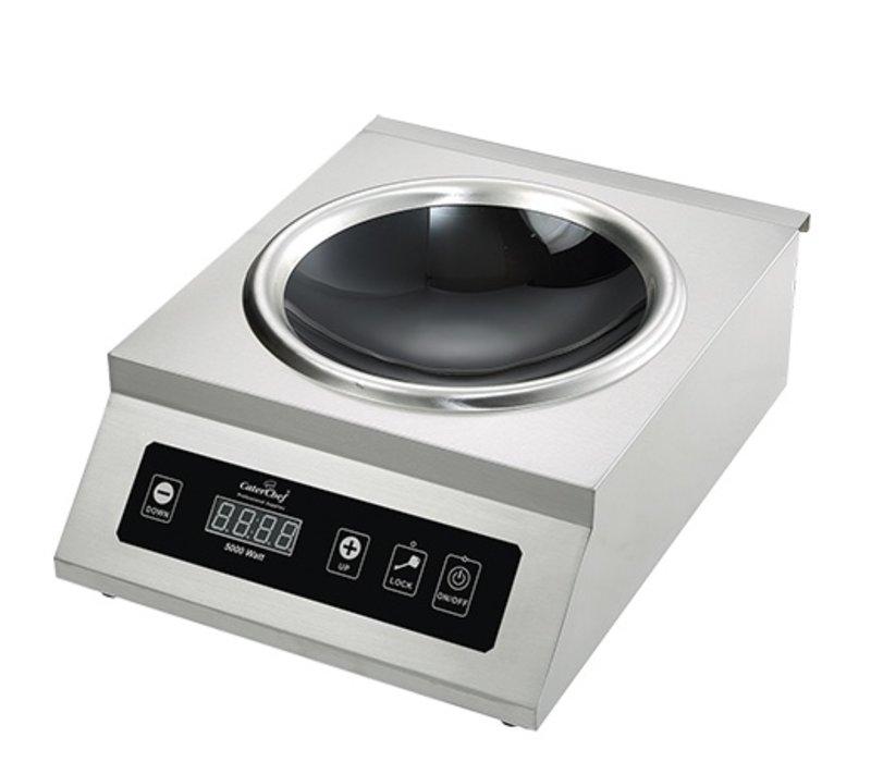 Caterchef Industrielle Küche Wok-Induktionskocher Edelstahl | 5000W | 5300x400x (H) 200mm