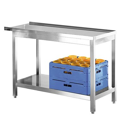Modular On / Disposal Table Stainless | 800mm