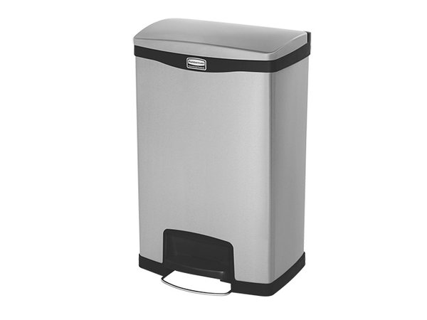 Rubbermaid Pedal Bin Stainless Steel | Leak Fixed Construction | 550x410x (H) 810mm | 90 liter