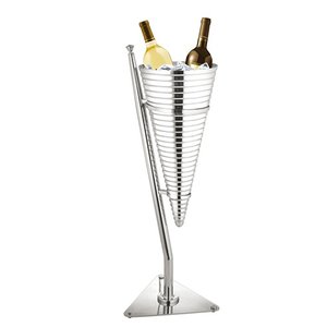 XXLselect Wine Cooler DeLuxe Duo | Double-walled stainless steel 18/10 | Ø320x (H) 890mm