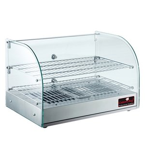 Caterchef Warmhoudvitrine RVS | +30°/+90°C | 800Watt | 560x380x(H)380mm
