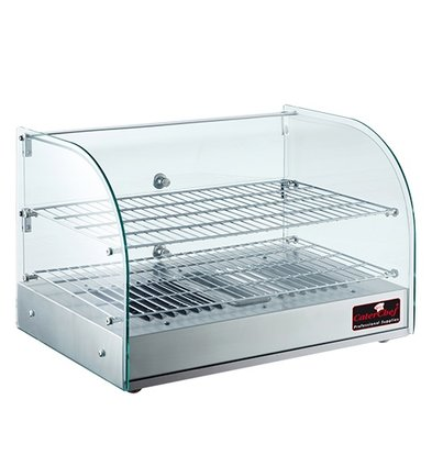 Caterchef Warming Showcase SS | + 30 ° / + 90 ° C | 800W | 560x380x (H) 380mm