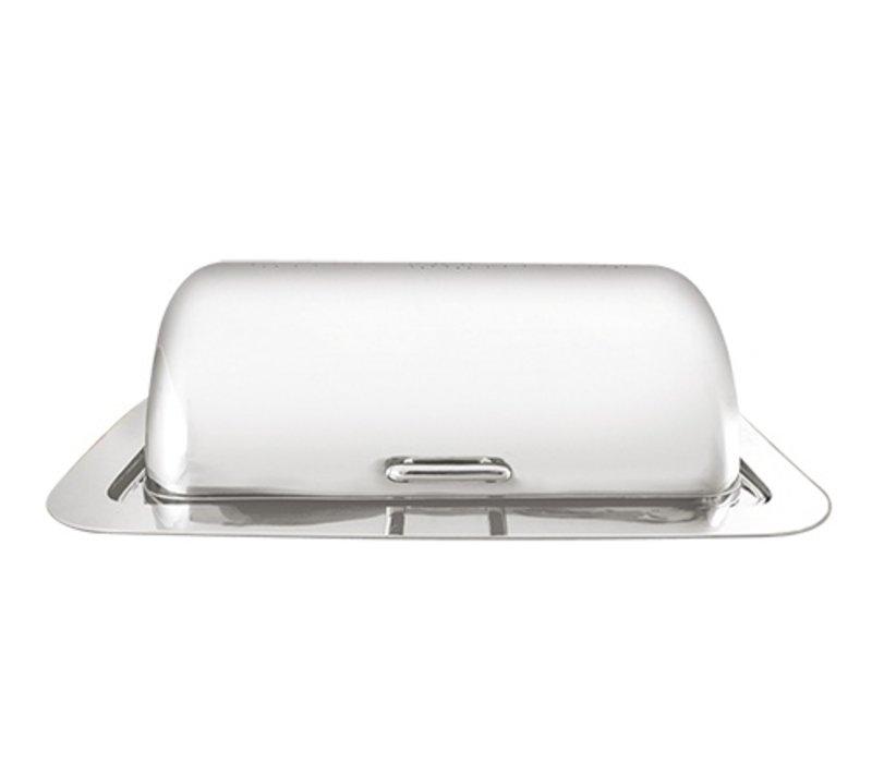 XXLselect Chafing Dish Elektrisch Inbouw   Hoogwaardig RVS 18/10   500Watt   710x530x(H)280mm