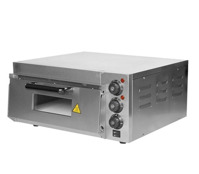 Caterchef Pizza Oven RVS   50°C-350°C   2000W   560x560x(H)280mm