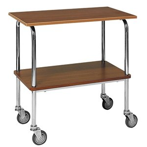 XXLselect Trolley Chromed Frame | 2 Plateau's Laminated Sheets | 840x450x (H) 800mm