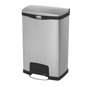 Rubbermaid Pedal Bin Stainless Steel | Leak Fixed Construction | 460x350x (H) 730mm | 50 liter