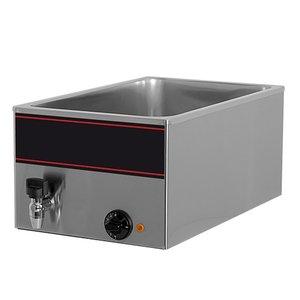 XXLselect Bain-Marie with stainless steel faucet | 1 / 1GN | 1000watt | 540x340x (H) 230mm