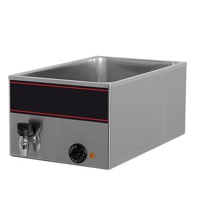 XXLselect Bain-Marie mit Edelstahl-Wasserhahn | 1/1 GN | 1000watt | 540x340x (H) 230mm
