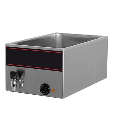 XXLselect Bain-Marie with stainless steel faucet | 1 / 1GN | 1000watt | 540x340x (H) 230mm