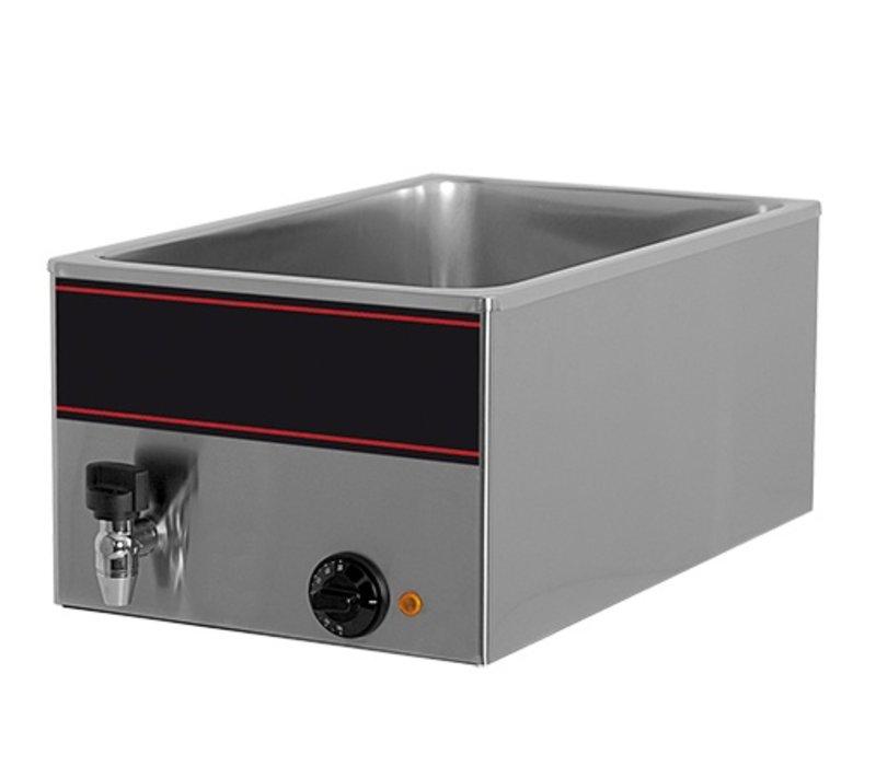 XXLselect Bain-Marie mit Edelstahl-Wasserhahn   1/1 GN   1000watt   540x340x (H) 230mm