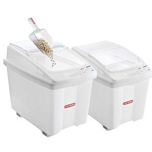 Araven Voorraadcontainer Polyethyleen Wit | Verrijdbaar | 700x460x(H)580mm | 100 Liter