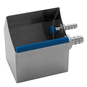 XXLselect Ijsportioneerbak Tafelmodel RVS | met Wateraansluiting | 130x100x(H)140mm