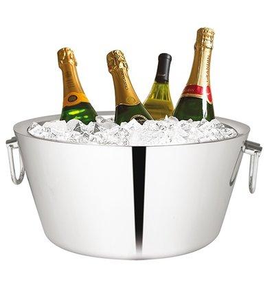 XXLselect Champagne-Schüssel aus Edelstahl 18/10 | Doppelwandig | Ø380x (H) 180mm
