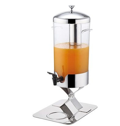 XXLselect Buffet Getränkespender Glanz Edelstahl | mit Ablassventil | 5 Liter