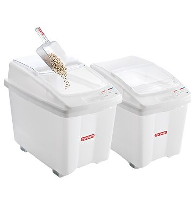 Araven Stock Container Polyethylene White | wheeled | 670x420x (H) 560mm | 80 liter