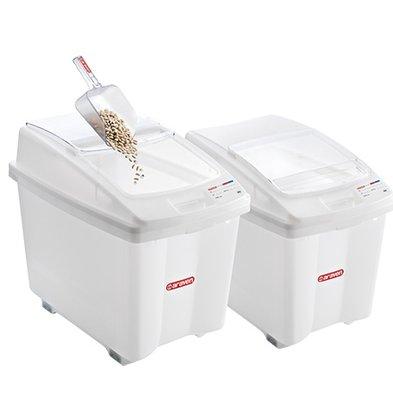 Araven Voorraadcontainer Polyethyleen Wit | Verrijdbaar | 670x420x(H)560mm | 80 Liter