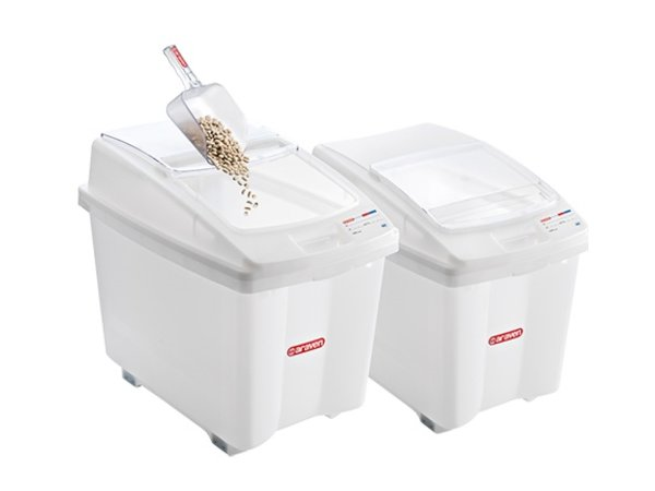 Araven Stock Container Polyethylene White | wheeled | 670x420x (H) 560mm | 80 liter