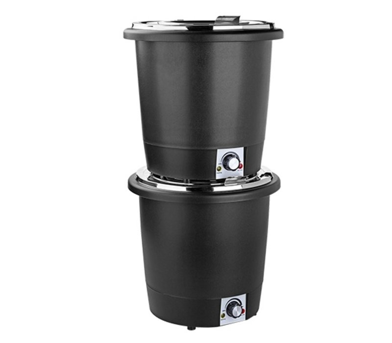 XXLselect Soup Kettle Heat Plastic | Stainless Steel Inner Pot | Ø330x (H) 320mm | 10 liter