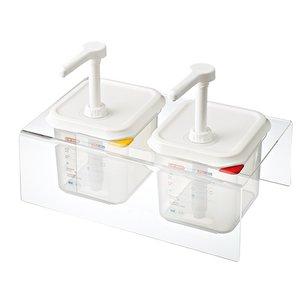 Araven Dispenser unit Kunststof | 2x 1/6GN