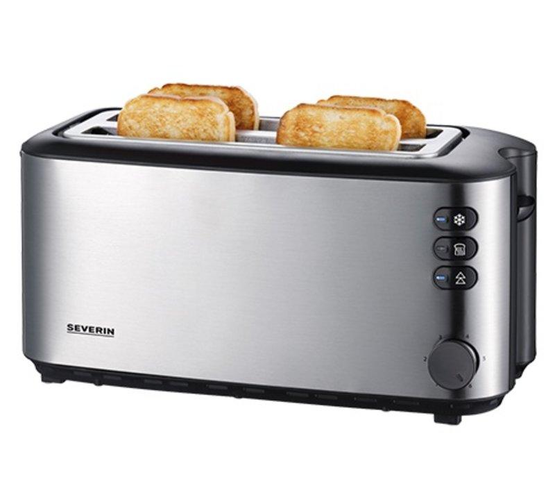 XXLselect Toaster Langschlitz Edelstahl | 850W | 270x160x (H) 190mm