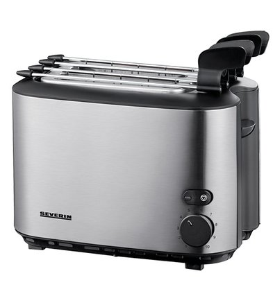XXLselect Tosti-Apparaat Duo RVS | 2 Tostiklemmen | 540W | 270x160x(H)240mm