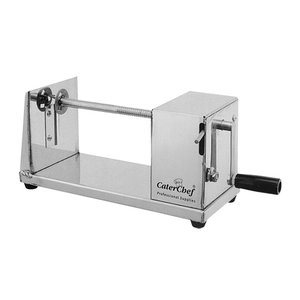 XXLselect Kartoffel-Spiral-Ausschnitt-Maschine SS | 300x150x (H) 150mm