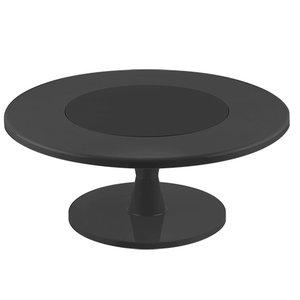 XXLselect Kuchen Standard Kunststoff Schwarz | mit DrehbarerStandfuß | Ø350x (H) 160mm