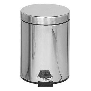 Rubbermaid Pedal Bin Stainless Steel | Nonslip bottom | Ø255x (H) 335mm | 6 liter