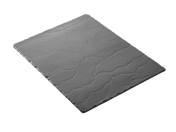 XXLselect Plateau Basalt Porzellan   Schauen Schiefer   540x170x (H) 7mm