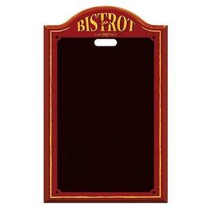 XXLselect Krijtbord Bistrot Zwart Kunststof | met Ophangoog | 440x(H)700mm