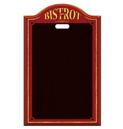 XXLselect Tafel Bistrot schwarzem Kunststoff | Aufhängeöse mit | 440x (H) 700mm