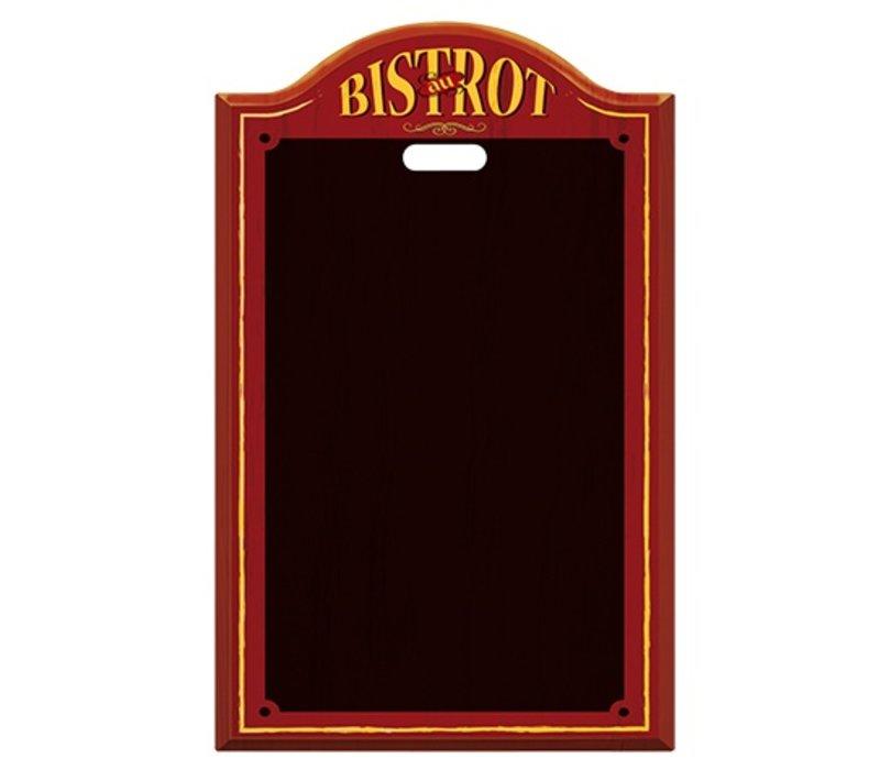 XXLselect Chalkboard Bistrot black plastic | Hanging loop with | 440x (H) 700mm
