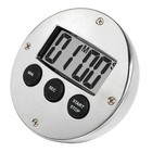 XXLselect Digital Timer Verchromd | 60 Minuten | DeLuxe | ø80mm