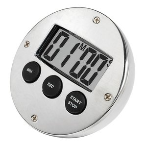 XXLselect Digital Timer Verchromd | 60 Minutes | DeLuxe | ø80mm